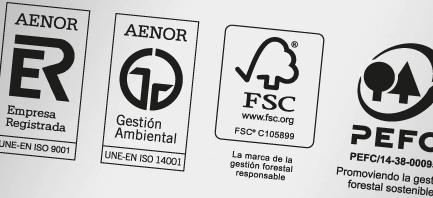 Centro Gráfico Ganboa a obtenu les certificats PEFC, FSC et 14001.