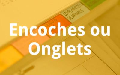 Encoches ou Onglets – Impression de catalogues