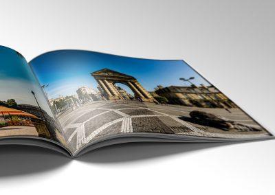 Impression de catalogues commerciaux avec une couverture en pelliculage soft-touch