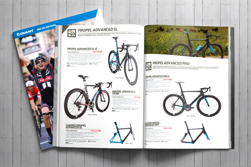 Impresión de catálogos de producto - Fresado A4 - Ciclismo ORBEA