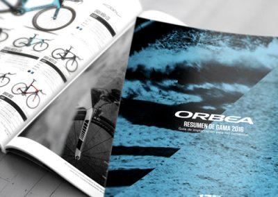 Impresión offset de un catálogo de producto – Ciclismo Orbea