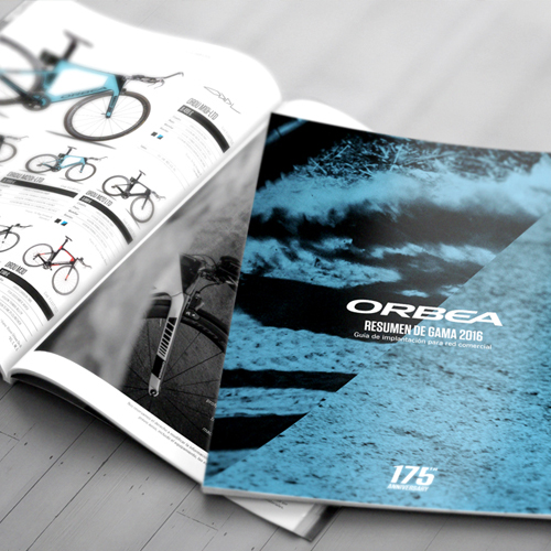 Offset printing of a product catalog – Orbea cycling