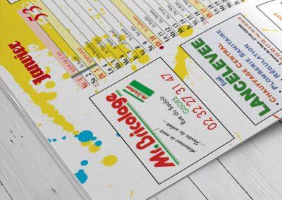 Impresión offset de calendarios, formato revista grapa