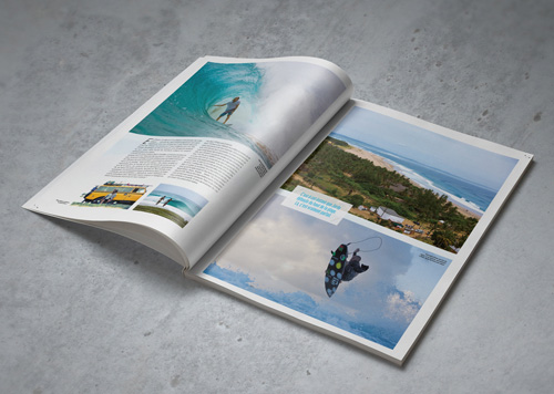 Offset printing of sports magazines – Surf