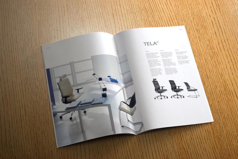 Impresión offset de catálogos de muebles en formato revista grapa
