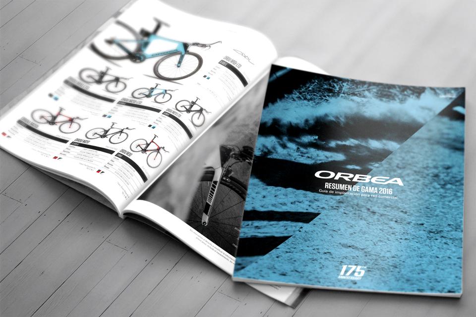 Impression de catalogues de produits A4 - Fabricant de Vélos - ORBEA