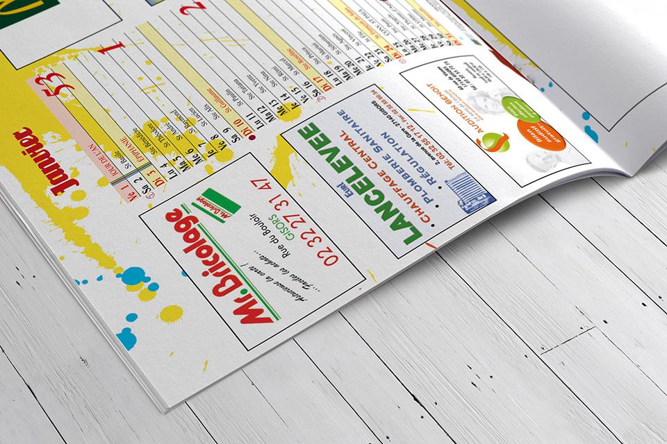 Calendrier Impression.Impression Offset D Un Calendrier Format Magazine